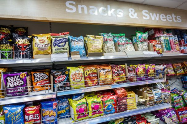 London, convenience store, snacks and sweets